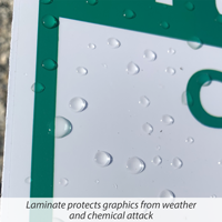 Pesticide warning sign is laminated for weather resistance