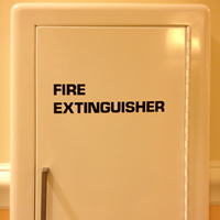 Fire Extinguisher Die Cut Glass Door Labels