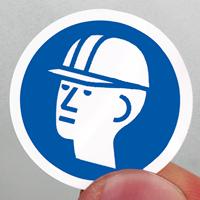 ISO M014 - Wear Hard Hat Symbol Label