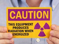 Caution Equipment Produces Radiation Label
