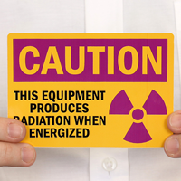 Caution Equipment Produces Radiation Label