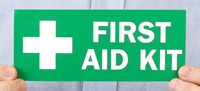 First Aid (With Symbol) Labels