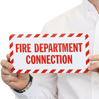 Fire Department Connection Label