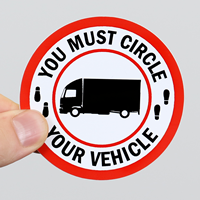You Must Circle, your Vehicle, Truck Safety Label