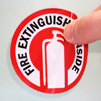 Fire Extinguisher Inside With Graphic