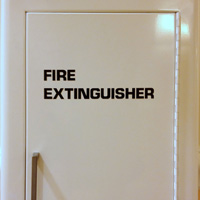 Fire Extinguisher Die Cut Glass Door Labels