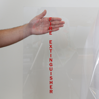 Fire Extinguisher Frosted Glass Decals