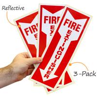 ReflectiveFire Extinguisher Safety Label