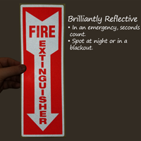 Fire Extinguisher Safety Label