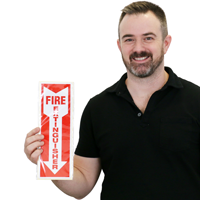 Reflective Fire Extinguisher Label