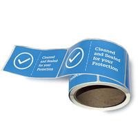 Roll of door seal labels