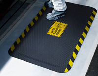 Danger Welding Area Signs Mat with Graphic