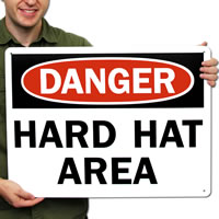 Danger Hard Hat Area Signs