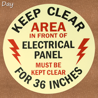 Keep Clear 36 Inches Circular Glow Floor Signs