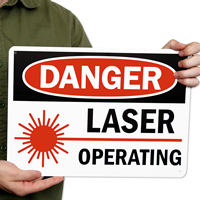 Danger Laser Operating Signs