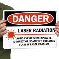 Danger Laser Radiation Avoid Eye Exposure Signs