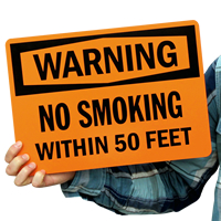 Warning: No Smoking Within 50 Feet