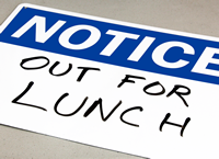 Write-On, Dry Erase (Blank) Notice Sign