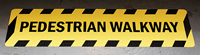 Pedestrian Walkway Floor Safety Sign