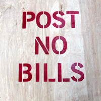Post No Bills Stencil
