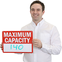Maximum Capacity ___ (Write-On) Sign