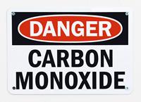 Danger Carbon Monoxide Signs