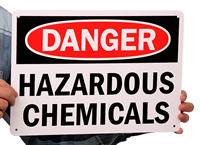 Danger Hazardous Chemicals Signs