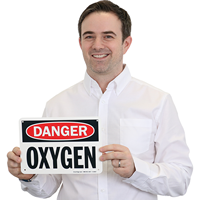 OSHA Danger Oxygen Sign