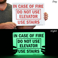Do Not Use Elevator, Use Stairs Fire Sign