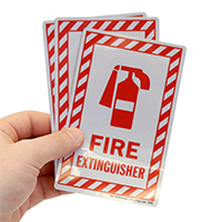 FiRe Extinguisher With Symbol Label