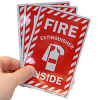 Fire Extinguisher Safety Labels