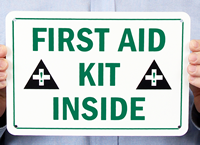 First Aid Kit Inside Signs