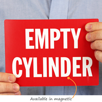 Empty Cylinder Magnetic Signs