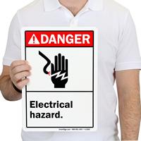 Danger ANSI Electrical Hazard Signs