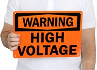 Warning High Voltage Signs