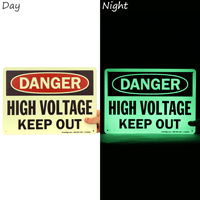 High Voltage Keep Out Glow Sign