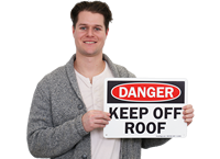 Danger Keep Off Roof Signs