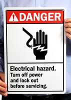 Danger (ANSI) Signs: Electrical Hazard Turn Off Power