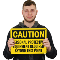 Caution Personal Protective Equipment Required Sign