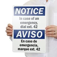 Bilingual Custom OSHA Notice / Aviso Sign