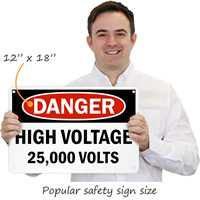 Customized OSHA Dnager Sign