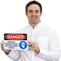 OSHA Danger Personalized Sign