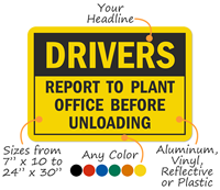 Customized Industrial Warning Sign Template