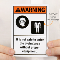 Customizable ANSI Warning Sign with 2 Cliparts