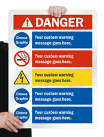 Add Warning Message with Cliparts Sign
