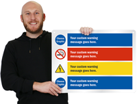 Choose Cliparts And Custom Warning Message Sign