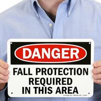 Danger Fall Protection Required Signs