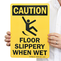 Floor Slippery When Wet Safety Sign