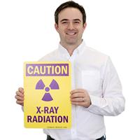 Radiation Caution Safety Sign