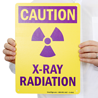 Caution X-Ray Radiation Signs